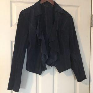 Ideology blue suede jacket coat cardigan Size S